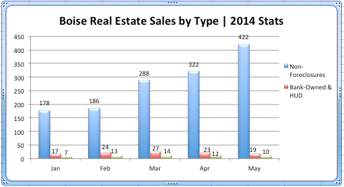 Boise Real Estate Sales by type_2014